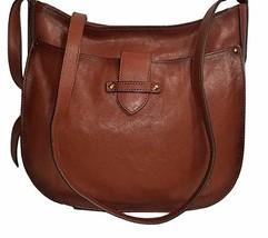 Frye Olivia Large Leather Crossbody Bag - Cognac