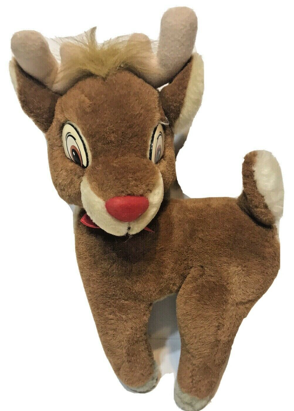 Vintage Rudolph The Red Nosed Reindeer Plush By Applause 10'' EUC Stuffed Animal - $15.57