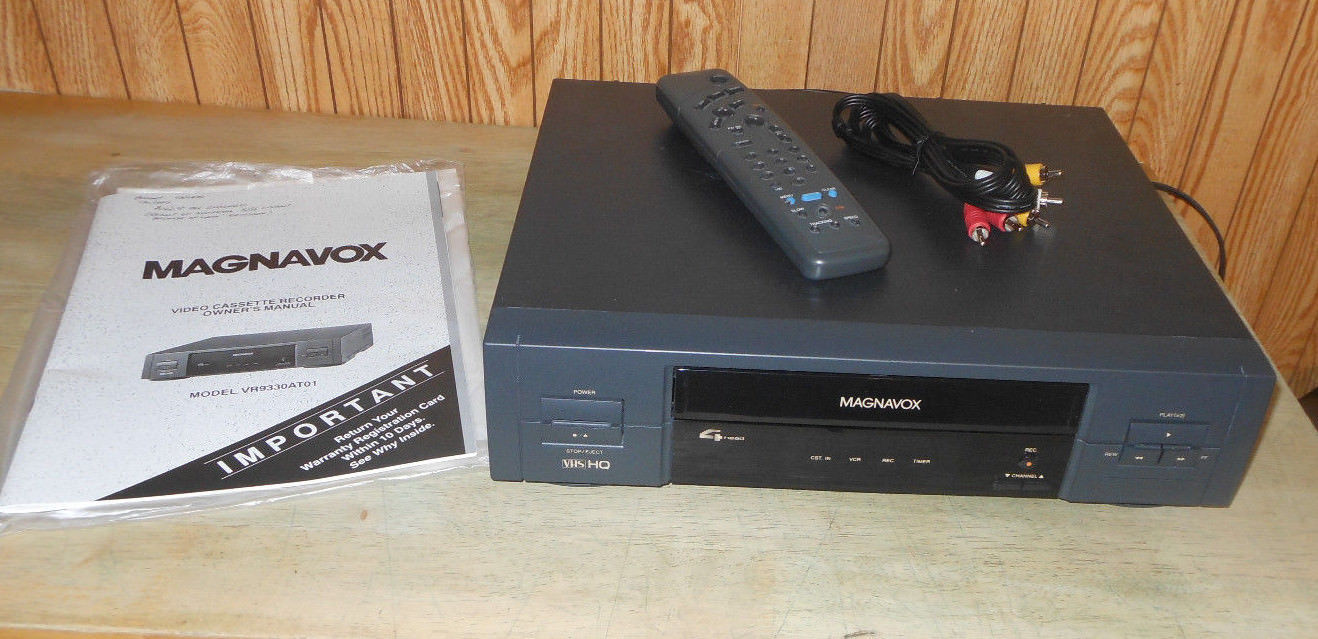 magnavox vr4330 vhs vcr recorder player with and 14 similar items rh bonanza com Magnavox Vcr Repair Philips DVD VCR Combo Troubleshooting