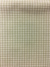 Khaki Camel Gingham Upholstery Drapery Fabric 3.875 yards C - $55.22