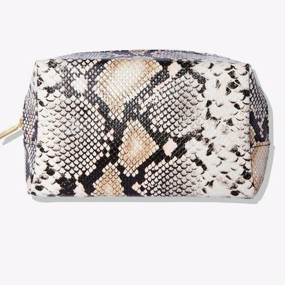TARTE Fab & Faux Makeup Bag Faux Snake Skin Pattern NEW - $14.99
