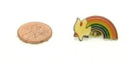 Vintage Late 1970's - 1980's Religious Dove Rainbow Enamel Scatter Hat Lapel Pin - $7.92