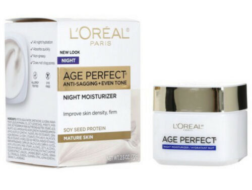 Primary image for L'Oreal Paris Age Perfect Anti Sagging + Even Tone Facial Night Cream NEW