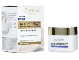 L'Oreal Paris Age Perfect Anti Sagging + Even Tone Facial Night Cream NEW - $12.86