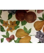"Superior Tablecloth Vinyl Flannel Back, 60"" Round (4-6 ppl) FRUITS, dk - $17.81"