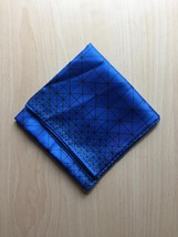 Vintage 60s Vera Neumann square silk scarf (Blue and white geometric) image 4