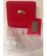 Christian Dior Parfums Red Mini Travel Clutch Makeup Cosmetic Bag Mirror... - $99.99