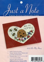 Bee My Honey Just A Note Greeting Card Cross Stitch Kit NEW - $4.02