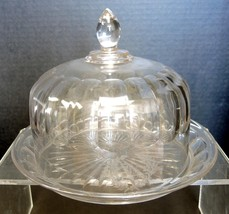 Nice EAPG Cheese Dome Etched With Monogram - $47.49