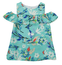 RARE EDITIONS NEW INFANT GIRLS 2PC BLUE FLORAL SHIRT DRESS 18M - $14.84