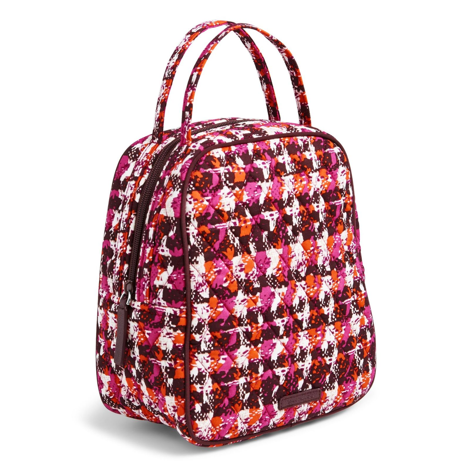 Vera Bradley Quilted Signature Cotton Lunch Bunch Bag, Houndstooth Tweed