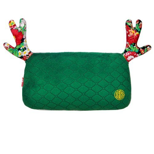 (Lovely Elk) Car Headrest/Car Neck Pillow ,China-green