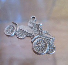Sterling Silver Bracelet Charm, 1904 FORD Car, Vintage 1950s AAA Memorabilia - $44.55