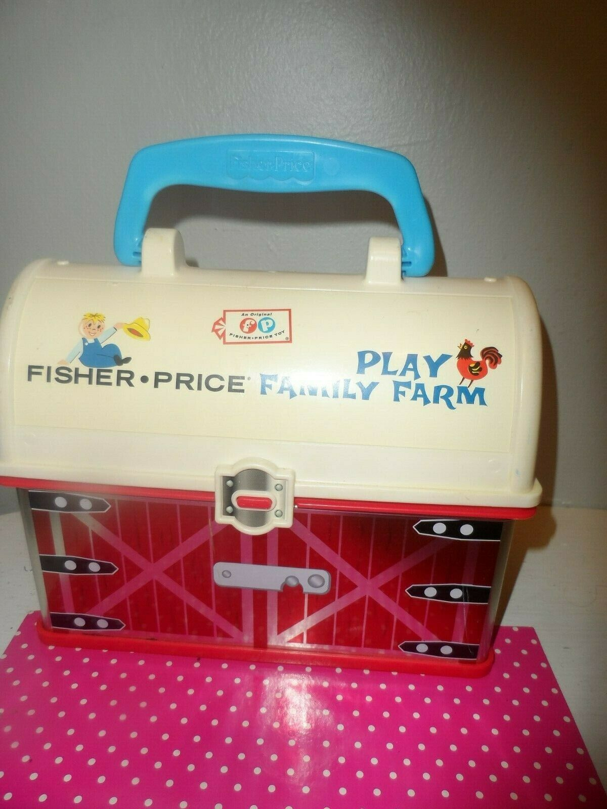 Fisher Price Little People Farm Barn Ark Animinal BROWN SPOTTED COW