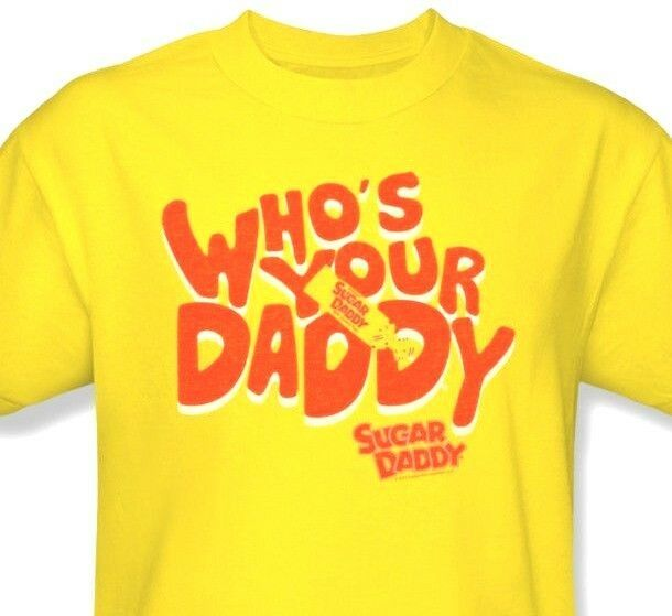 Who's Your Sugar Daddy T-shirt Free Shipping yellow retro 80's cotton tee TR130