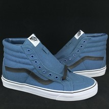 New Vans Skate Hi Reissue Sz 9 Men / 10.5 Wmn True White Blue Canvas Ska... - £34.49 GBP