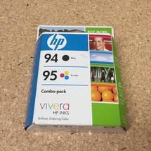 94 black COMBO 95 COLOR ink HP PhotoSmart 8750 8450 8150 B8350 2710 2610... - $37.57