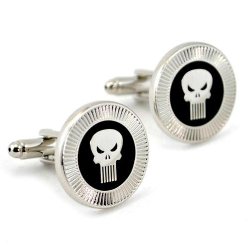 PUNISHER CUFFLINKS Comics Super Hero NEW w GIFT BAG Pair Men's Jewelry Skull
