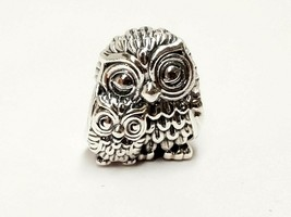 AUTHENTIC PANDORA SILVER CHARM CHARMING OWLS  NWT #791966 - $23.80