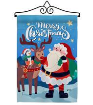 Santa with Friends - Impressions Decorative Metal Wall Hanger Garden Fla... - $27.97