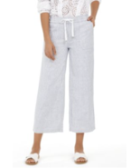 Style & Co women's ankle ,mid rise pull on pants striped white blue size... - $39.15