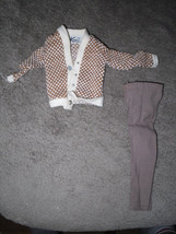 Mattel Barbie Doll Clothes - Ken Fraternity Meeting #1408 - 1964 BW Label image 1