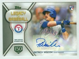 2019 Topps Legacy Of Baseball 150 Years Gold Stamp #LBAPW Patrick Wisdom... - $7.69