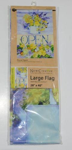 New Creative 26142 Floral Indoor Outdoor Garden Flag Open