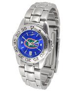 Florida Gators Womens Ladies Steel Sport AnoChrome Watch - $81.68
