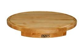 "John Boos Corner Counter Saver Maple Wood Oval Cutting Board 24"" X 18"" X... - $284.30 CAD"