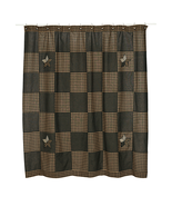 Farmhouse Star primitive SHOWER CURTAIN 72x72 Bath decor rustic log cabi... - $49.49