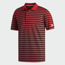 Adidas Men's Ultimate365 Red 3-Color Stripe Golf Polo Size XL - $44.55