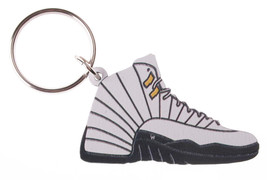 Good Wood NYC Taxi 12 Sneaker Keychain Black/Grey IV Shoe Ring Key Fob image 1
