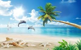 3D Strand, Schale, Schiff 254 Fototapeten Wandbild Fototapete BildTapete Familie - $52.21+