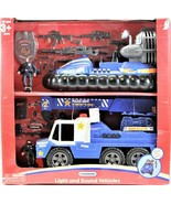 Police Department Rescue Truck And Boat Play Set Lights And Sound Gift Set - $47.51