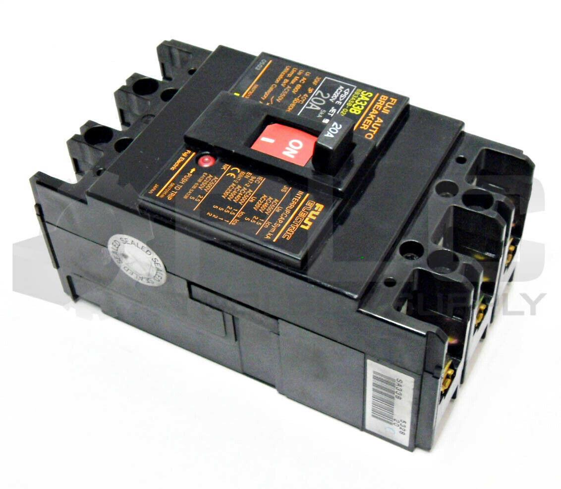 220VAC Fuji BB3ASB-020 Circuit Breaker 20A 3P