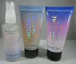 Bath & Body Works Moon Glowtion Celestial Scrub Galaxy Mist Spray Set - £43.62 GBP