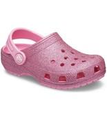 Kids Classic Glitter Crocs Baya Glitter Clog Girls Shoe Size J2 Pink - $34.65