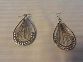 Women's Silver Metal Southwestern Tear Drop Dream Catcher Pierced Earrings - $22.28