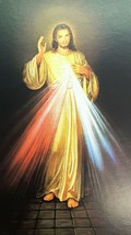 Lot 50 Pcs Jesus Christ Divine Mercy Holy Card Prayer-Blessed by Pope on... - $19.95