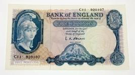Sin Fecha (1957-1967) Gran Bretaña 5 Libras Nota Au Recoger #371a - $98.98