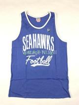 Junk Food Mens XL Blue/ White NFL Seattle Seahawks Football Ringer Tank T-Shirt - $14.99