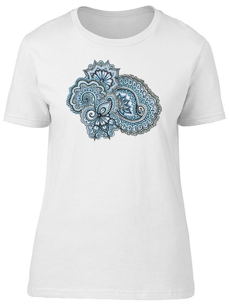 Primary image for Blue Indian Ethnic Ornament Women's Tee -Image by Shutterstock
