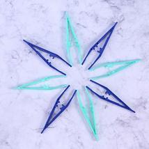BinaryABC Disposable Plastic Tweezers Beads Medical Craft Tweezers,12PcsBlue and image 2
