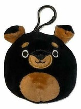 "Squishmallow Kellytoy 3.5 Inch Dog Clip On Keychain (3.5"" Mateo The Rott... - $8.45"