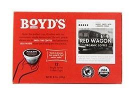 Boyd's Coffee Single Cup, Red Wagon, 72 Count 6 boxes of 12 pods - $47.62
