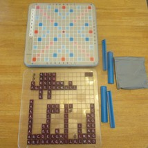 Vintage 1977 Scrabble Deluxe Turntable Edition Crossword Game Set Comple... - $79.99