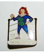 WWF Wrestling Personality Fabulous Moolah Figure Enamel Metal Pin 1990 MINT - $7.84