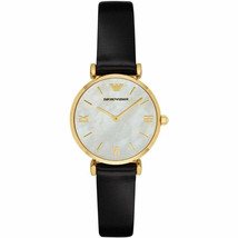 Emporio Armani Classic Gianni Mother of Pearl Dial Leather Strap Watch A... - $169.09 CAD
