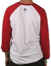 Kr3w Skate Rosso Bianco Blu Ballpark Raglan 3/4 Maniche T-Shirt K56027 Nwt image 2